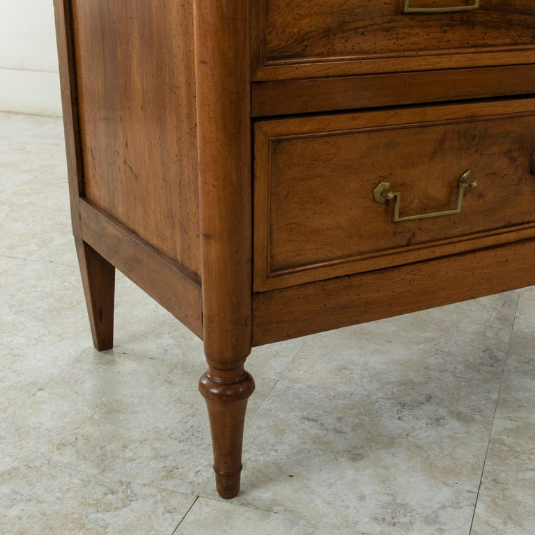 Late 18th Century French Louis XVI Period Walnut Commode or Chest with Marble For Sale 5