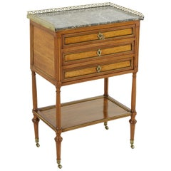Late 18th Century French Louis XVI Period Walnut Jewelry Chest or Nightstand