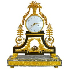 Late 18th Century French Marble and Gilt Bronze Clock by/After Deverberie
