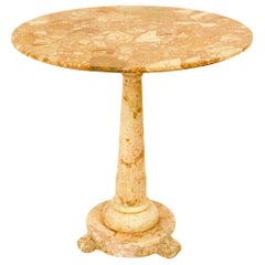 Late 18th Century French or Italian Louis XVI Red Marble Center or Garden Table