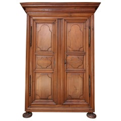 18th Century French Louis XIV Walnut Armoire