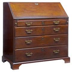 Late 18th Century George III Mahogany Bureau Writing Desk