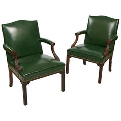 Late 18th Century George III Pair of Gainsborough Armchairs