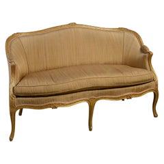 Late 18th Century George III Period French Hepplewhite Giltwood Sofa