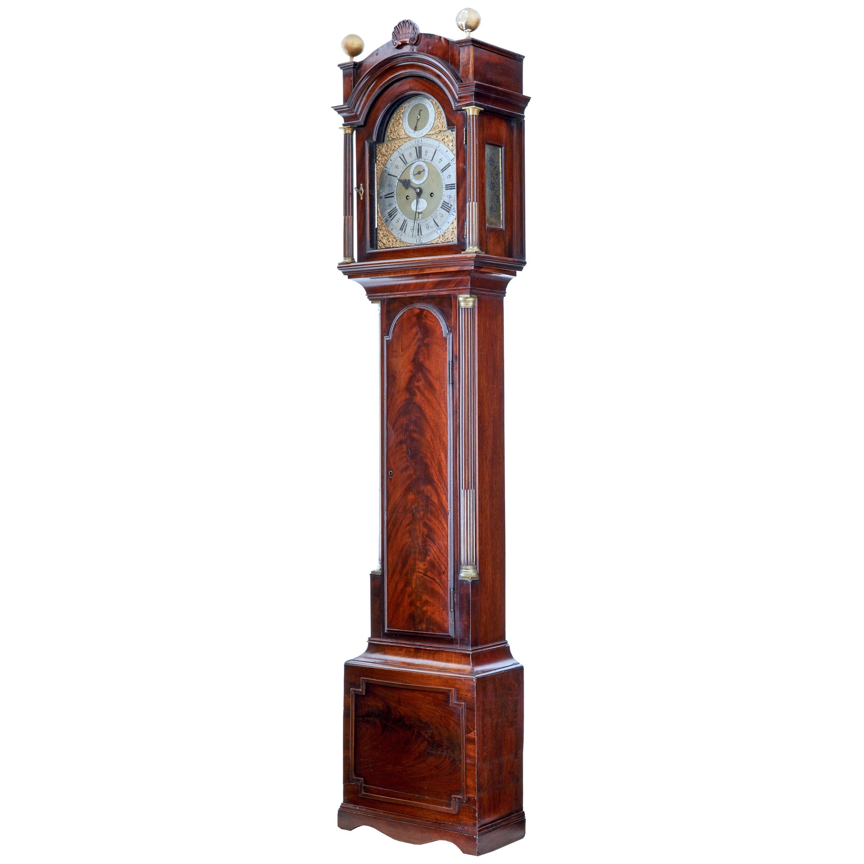 Late 18th Century Georgian Mahogany Longcase Clock John Purden, London