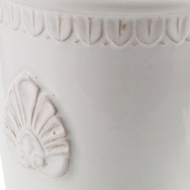 Late 18th Century, Greek Classic Enameled Terracotta Vase Ceramiche di Este For Sale 4
