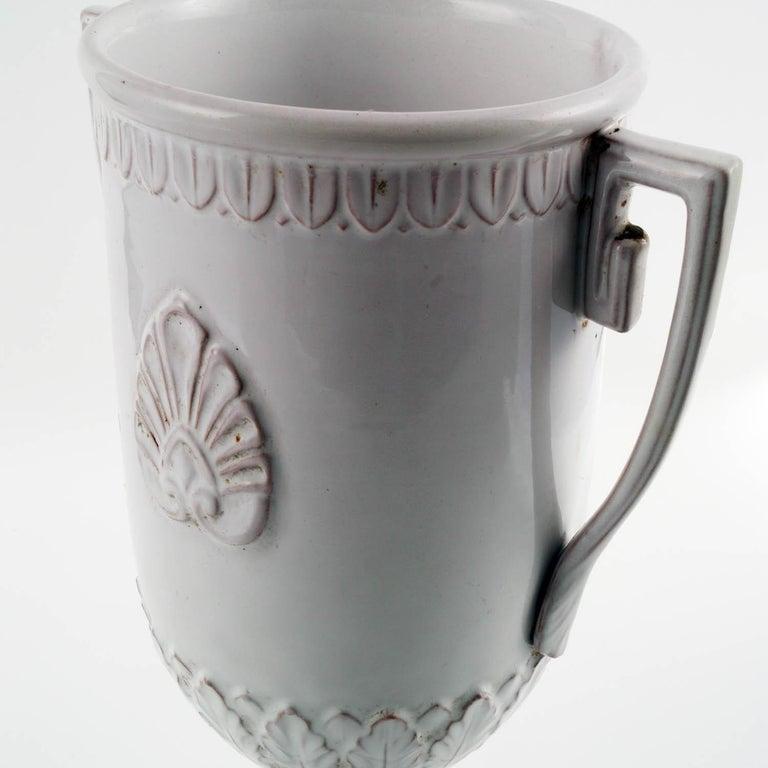 Italian Late 18th Century, Greek Classic Enameled Terracotta Vase Ceramiche di Este For Sale