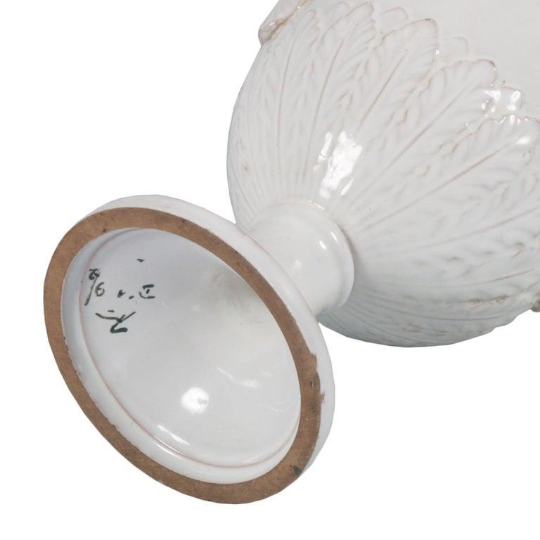 Late 18th Century, Greek Classic Enameled Terracotta Vase Ceramiche di Este For Sale 1