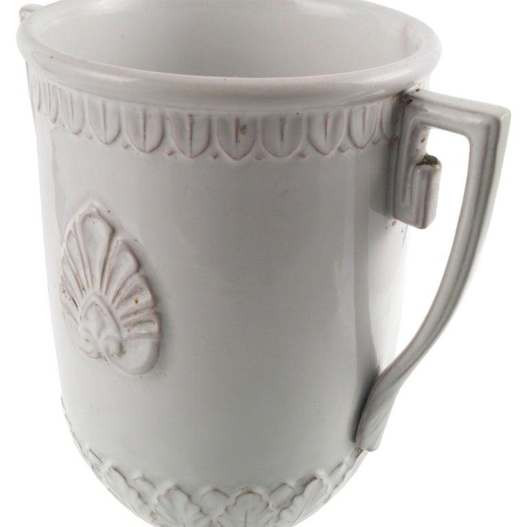 Late 18th Century, Greek Classic Enameled Terracotta Vase Ceramiche di Este For Sale 2