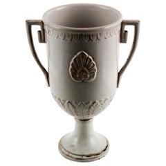 Late 18th Century, Greek Classic Enameled Terracotta Vase Ceramiche di Este