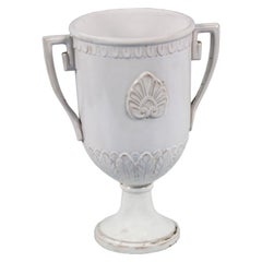 Ende des 18. Jahrhunderts, griechische, klassische, emaillierte Terrakottavase, Ceramiche di Este