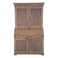 Late 18th Century Gustavian Secretaire with Reeded Doors