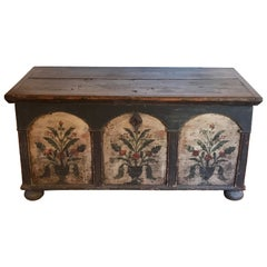 Late 18th Century Hand Painted Austrian Blanket Chest, 1790s