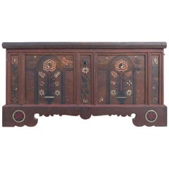 Late 18th Century Hand-Painted Bavarian Dowry Chest Dated 1767