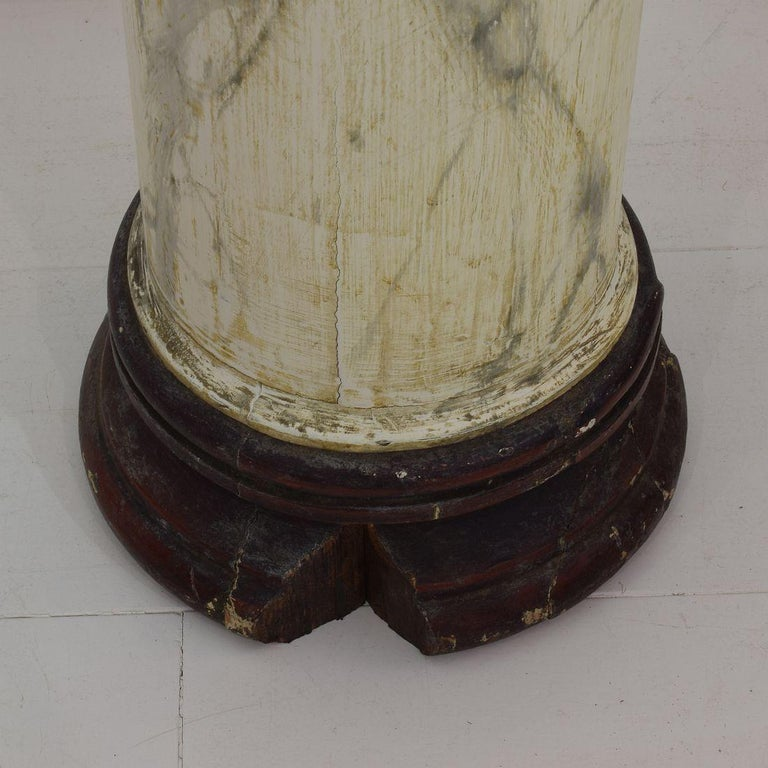 Late 18th Century Large Italian Corinthian Painted Columns For Sale 5