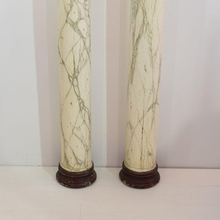 Late 18th Century Large Italian Corinthian Painted Columns For Sale 1