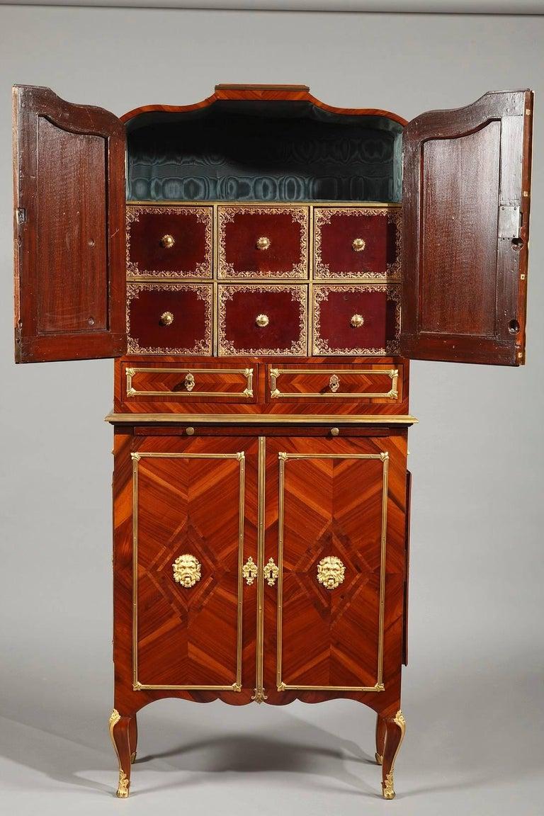 Gilt Late 18th Century Louis XVI Cartonnier Desk For Sale