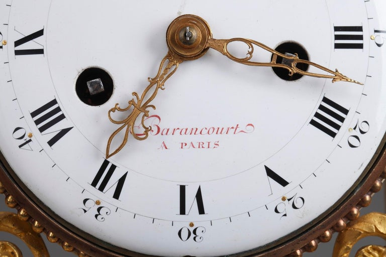 Late 18th Century Louis XVI Marble and Gilt Bronze Portico Clock For Sale 2