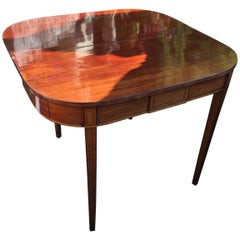 Late 18th Century Mahogany and Satinwood Sheraton Period Tea Table