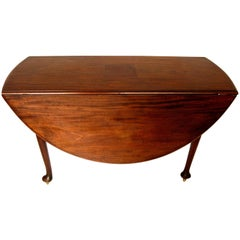 Late 18th Century Mahogany Drop-Leaf Table, England, Dark Mahogany