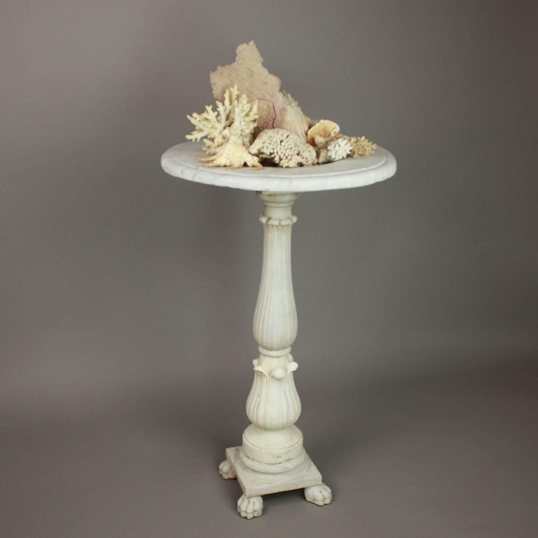 Carrara Marble Late 18th Century Marble Fountain For Sale