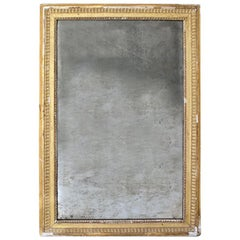 Late 18th Century Naturally Distressed Gilded and Gesso Mirror
