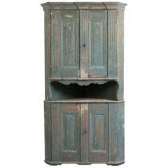 Late 18th Century Neoclassic Corner Cabinet