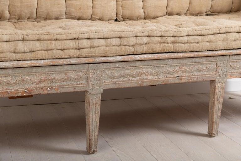 Late 18th Century Neoclassic Swedish Sofa For Sale 4