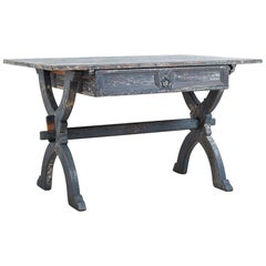 Late 18th Century Northern Swedish Folk Art Trestle Table