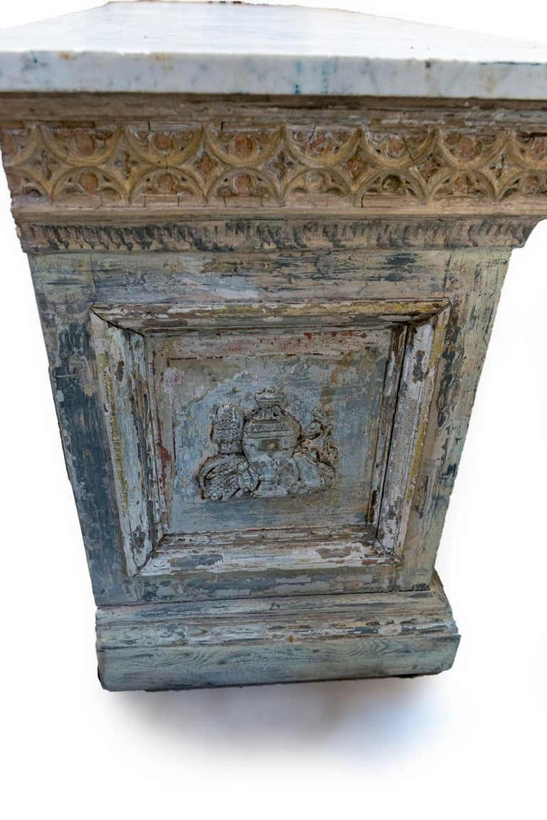 Late 18th Century Painted Double Sided Counter With A