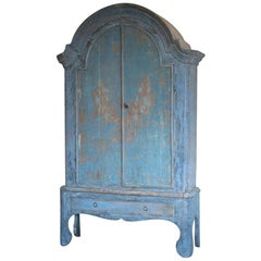 Late 18th Century Painted Scandinavian Cupboard