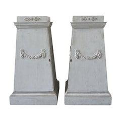 Late 18th Century Pair of Gustavian Pedestals