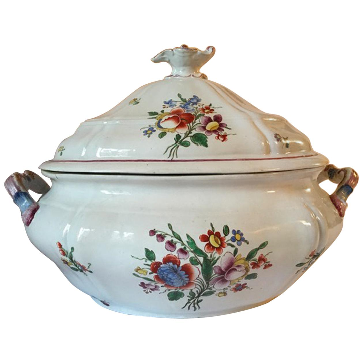 Italy Late 18th Century Porcelain Richard Ginori Doccia Soup Bowl