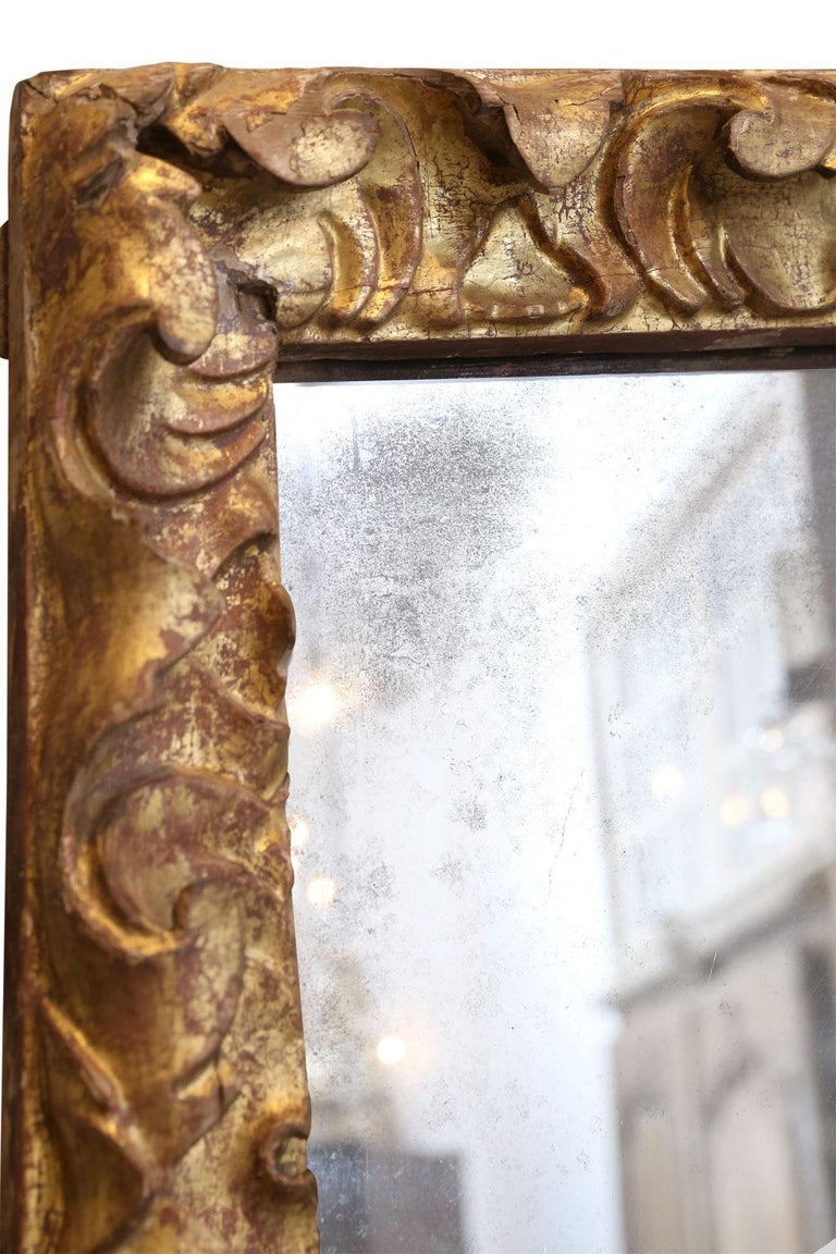 Baroque Late 18th Century Portuguese Mirror For Sale