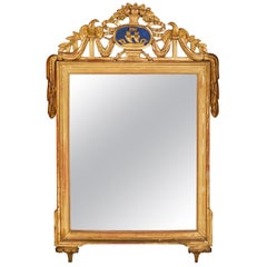 Spätes 18. Jahrhundert Provinzieller Spiegel aus Vergoldetem Holz