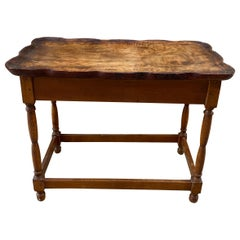 Late 18th Century Shaped Walnut Butlers Tray on Later Stand