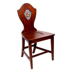 Late 18th Century Shield Back Hall Chair