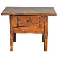 Late 18th Century Spanish Charles IV Table with Drawer