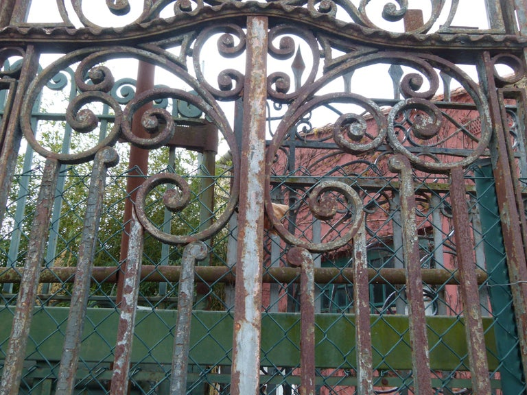 Wrought Iron Late 18th Century Spanish Iron Gate For Sale