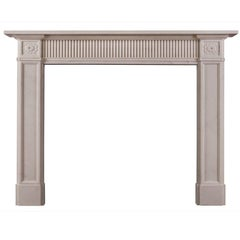 Late 18th Century Style White Marble Fireplace