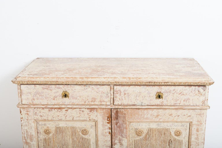Late 18th Century Swedish Double Doored Gustavian Sideboard For Sale 2