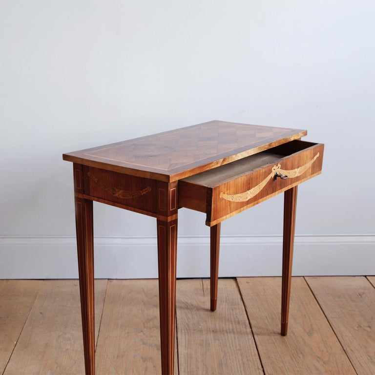Late 18th Century Swedish Gustavian Occasional Table with Fruitwood Inlay For Sale 3