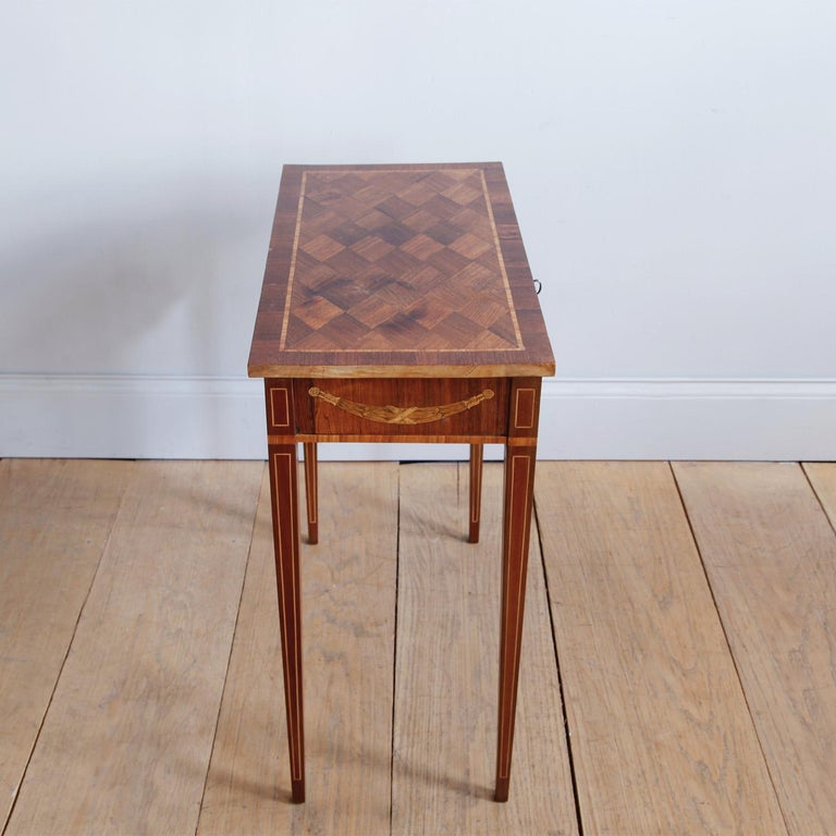Late 18th Century Swedish Gustavian Occasional Table with Fruitwood Inlay For Sale 5