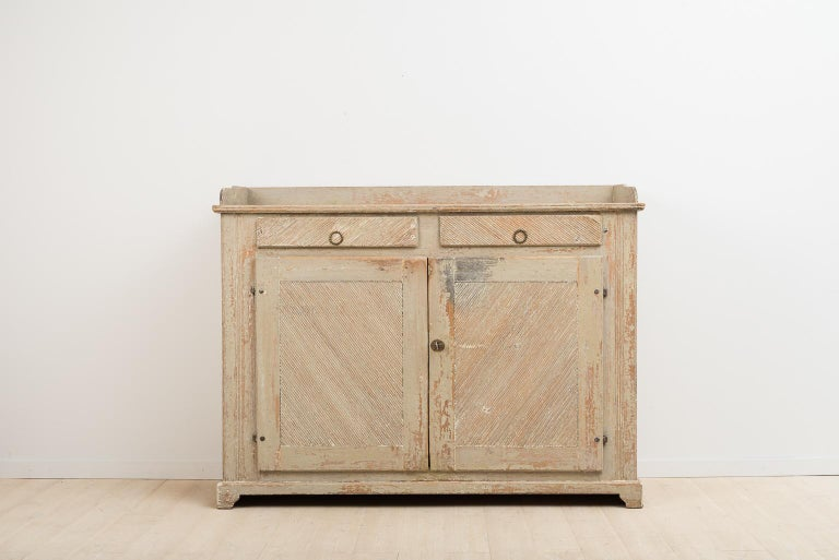 Late 18th Century Swedish Gustavian Sideboard in Original Condition For Sale 2