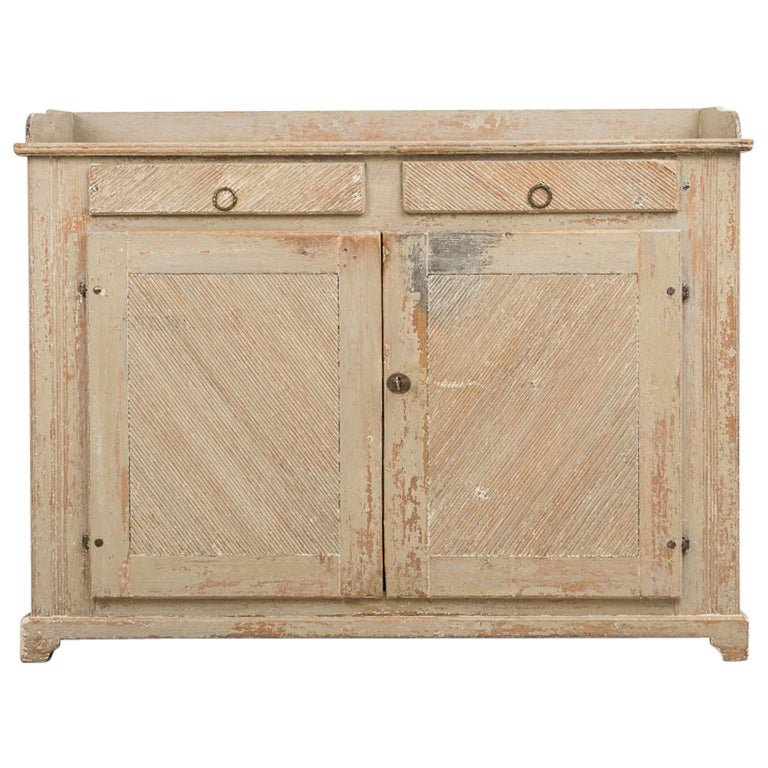 Late 18th Century Swedish Gustavian Sideboard in Original Condition For Sale