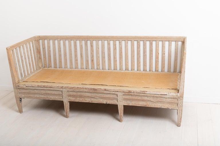 Late 18th Century Swedish Neoclassic Sofa Bench For Sale 4