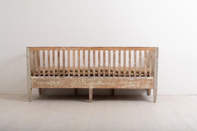 Late 18th Century Swedish Neoclassic Sofa Bench For Sale 5