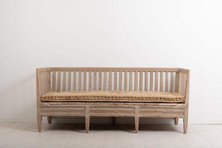 Neoclassical Late 18th Century Swedish Neoclassic Sofa Bench For Sale