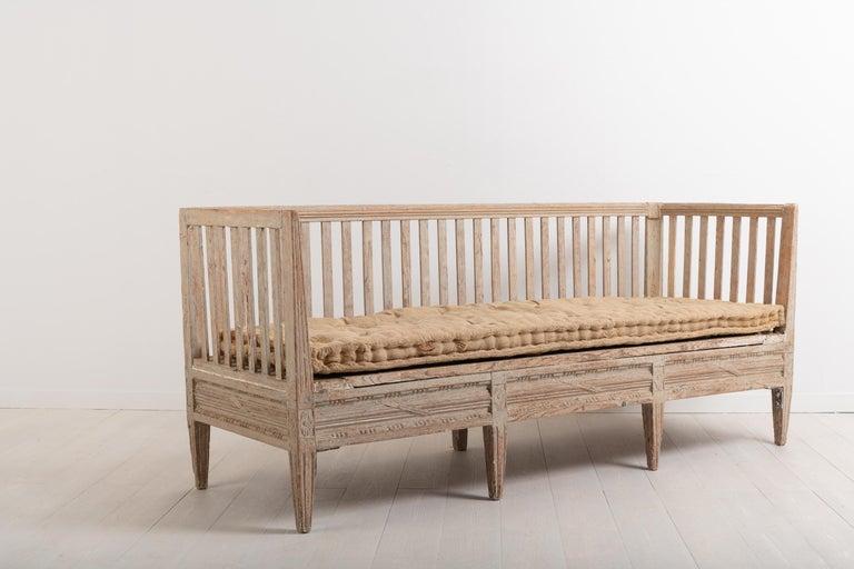 Pine Late 18th Century Swedish Neoclassic Sofa Bench For Sale