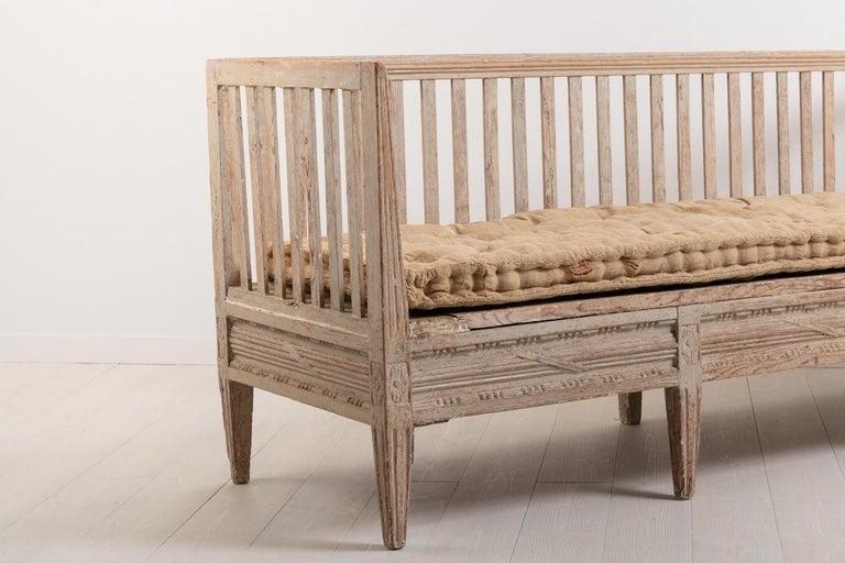 Late 18th Century Swedish Neoclassic Sofa Bench For Sale 1